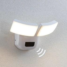 LED buitenwandlamp Nikias met sensor, 2 lampjes - lampen-24