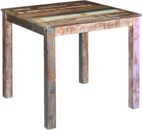 Compacte eetkamertafel massief gerecycled hout 80x82x76 cm