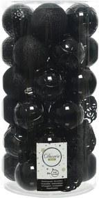 Kerstballen Mix 37 st. - Zwart