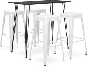 5-delige Barset zwart en wit