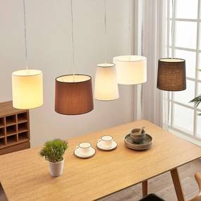 Textiele hanglamp Hermina, 5.lamps - lampen-24