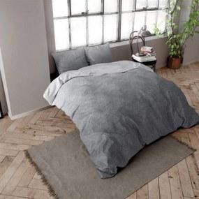 DreamHouse Bedding Quinn - Verwarmend Flanel - Antraciet 1-persoons (140 x 200/220 cm + 1 kussensloop) Dekbedovertrek