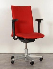 Bureaustoel Comforto 55, rood, 4D armleggers