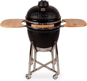 Kamado Grill 21 barbecue zwart
