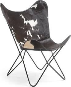 Kave Home Fly Vlinderstoel Van Koeienleder