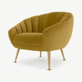 Primrose fauteuil, vintagegoud fluweel