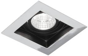 Cantello inbouw LED spot 90x90 mm vierkant chroom