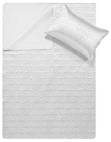 DreamHouse Bedding Bedsprei - Satin Orlando - Wit 180 x 250 + 1 kussensloop