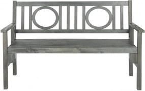 Safavieh Furniture   Tuinbank Malena lengte 138 cm x breedte 59 cm x hoogte 88,14 cm as grijs tuinbanken acaciahout outdoor   NADUVI outlet