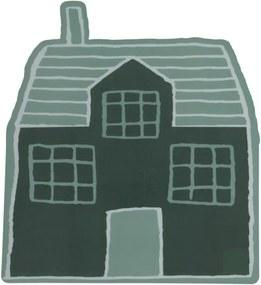 Placemat - 40 X 36 - Kunsstof - Groen Huisje (groen)