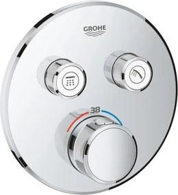 Grohe SmartControl afbouwdeel voor inbouwkraan thermostatisch met omstel v. 2 functies rond chroom 29119000