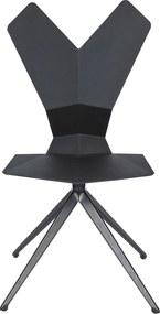 Tom Dixon Y Chair stoel met draaibaar onderstel zwart