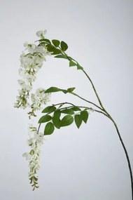 Wisteria - zijden bloem - wit - extra lang