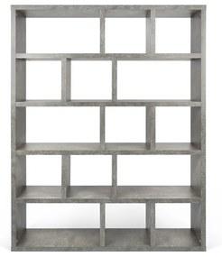 TemaHome Berlin Roomdivider Met 15 Vakken Betonlook - 150x34x198cm.