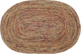Bakero   Vloerkleed Riven Hoogpolig lengte 90 cm x breedte 160 cm x hoogte 1,00 cm naturel, rood vloerkleden jute vloerkleden   NADUVI outlet