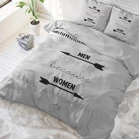 DreamHouse Bedding Women Always Right - Grijs 1-persoons (140 x 220 cm + 1 kussensloop) Dekbedovertrek