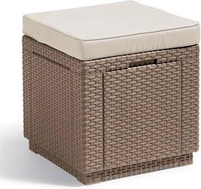 Cube multifunctionele hocker cappuccino 228096