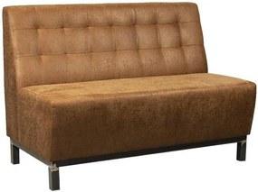 Kaja Collection | Bank Liam - 2 zitplaatsen breedte 120 cm x diepte 66 cm x hoogte 86 cmzitdiepte bruin zitbanken staal, | NADUVI outlet