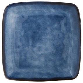 Vierkant bord Toscane - donkerblauw - 25 cm