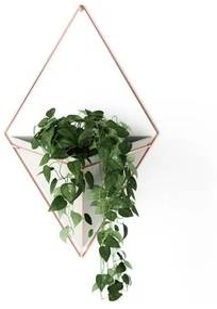 Umbra Trigg plantenhouder 10x22x39cm 1 stuk hangend polyester beton/koper 470752-633