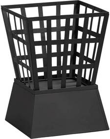 Gusta vuurkorf The Good Roast - zwart - 33,5x33,5x48 cm - Leen Bakker