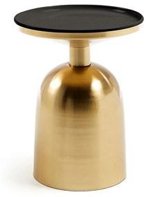 Kave Home Physic (Prato) Bijzettafel Goud Met Emaille - 36.5 X 37cm.