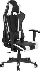 Bureaustoel zwart/wit hoogteverstelbaar RACER