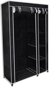 Kledingkast opvouwbaar 110x45x175 cm zwart