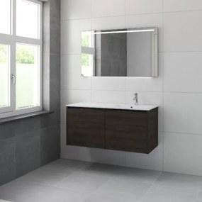 Bruynzeel Matera badmeubelset kom rechts 120x56.5x50cm met spiegel verlichting gladstone 226168k