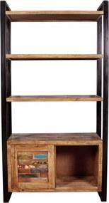 Boekenkast Van Gerecycled Hout - 100x40x190cm.