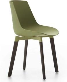 MDF Italia Flow Color Cross Oak stoel groen bruin onderstel