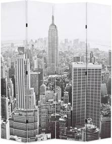 Kamerscherm New York bij daglicht 160x170 cm zwart en wit
