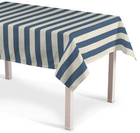Rechthoekig tafelkleed, blauw-wit gestreept