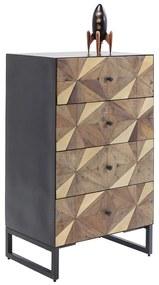 Kare Design Illusion Gold Mozaiek Ladekast - 60x40x100cm.