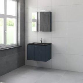 Bruynzeel Bino meubelset graniet wastafelblad met spiegelkast 70cm 1 kraangat oud blauw 225356k