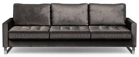 Rivièra Maison - West Houston Sofa 3,5 Seater, velvet, grimaldi grey - Kleur: grijs