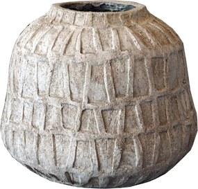 PTMD Collection | Bloempot Timon lengte 29 cm x breedte 29 cm x hoogte 41 cm bruin bloempotten cement decoratie vazen & | NADUVI outlet