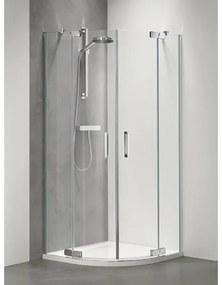 Sealskin Get Wet Custom douchedeur kwartrond 100x195cm zilverhoogglans helder glas CP6010CD260100