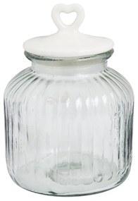 Voorraadpot met hartje - 2.7 L