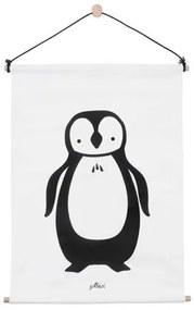 Canvas poster 42x60 cm pinguïn