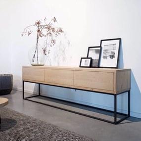 Industriële eikenhouten tv-meubel Pessac