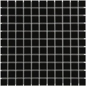 The Mosaic Factory Barcelona mozaïektegel 2.3x2.3x0.6cm wandtegel voor binnen en buiten vierkant porselein zwart AF230317