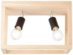 Brilliant Houten plafondlamp Nerea dubbel - 230 volt