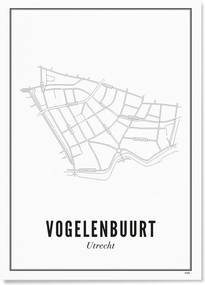WIJCK Utrecht Vogelenbuurt print