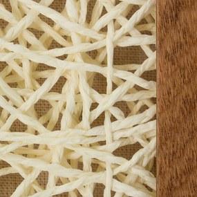 Decorationable | Decoratief wandobject Carré III lengte ca. 5 cm x breedte 60 cm x hoogte 60 cm naturel, wit decoratieve | NADUVI outlet