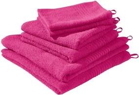 Set van 6 handdoeken Fuchsia