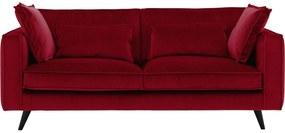 Goossens Bank Suite Velours rood, stof, 2-zits, elegant chic