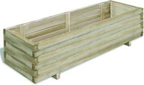 Plantenbak verhoogd rechthoekig 120x40x30 cm hout