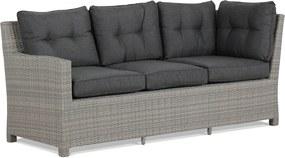 Domani Oslo sofa bank + open bank naturel + 2 x bijzettafel met kussen