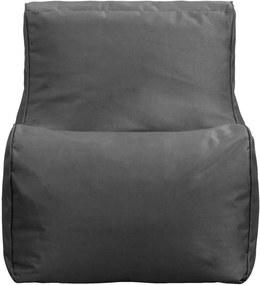 Lebel loungestoel - antraciet - 80x60x65 cm - Leen Bakker